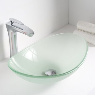 Find Forza Glass Oval Vessel Bathroom Sink By ANZZI