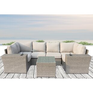 Rosecliff Heights Winsford 9 Piece Sectional Set with Cushions