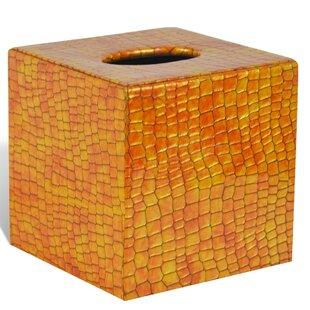 Brayden Studio Eva Genuine Leather Tissue Box Cover