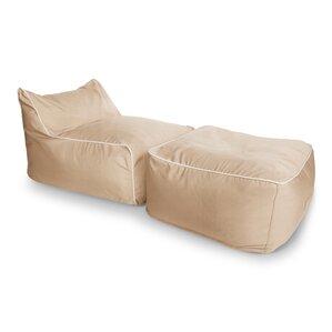 Sunbrella Bean Bag Lounger Set  sc 1 st  AllModern : bean bag chaise lounge - Sectionals, Sofas & Couches