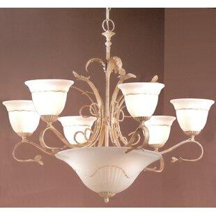 Classic Lighting Treviso 9-Light Shaded Chandelier