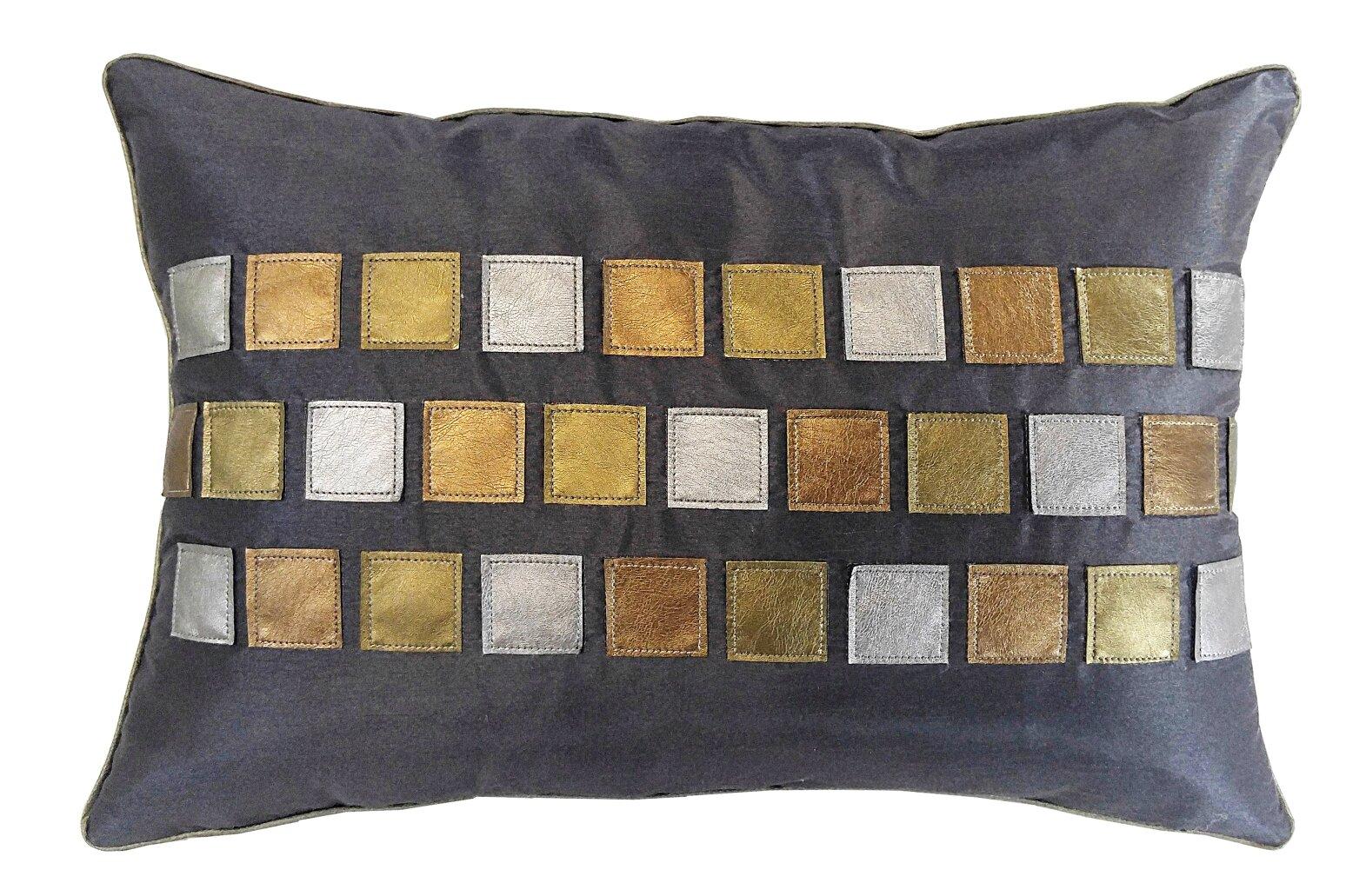 Edie Inc Metallic Tiles Lumbar Pillow Wayfair