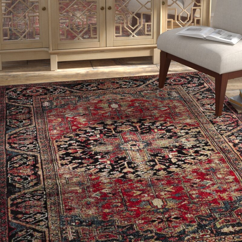 Mccall Red Black Area Rug Reviews Allmodern