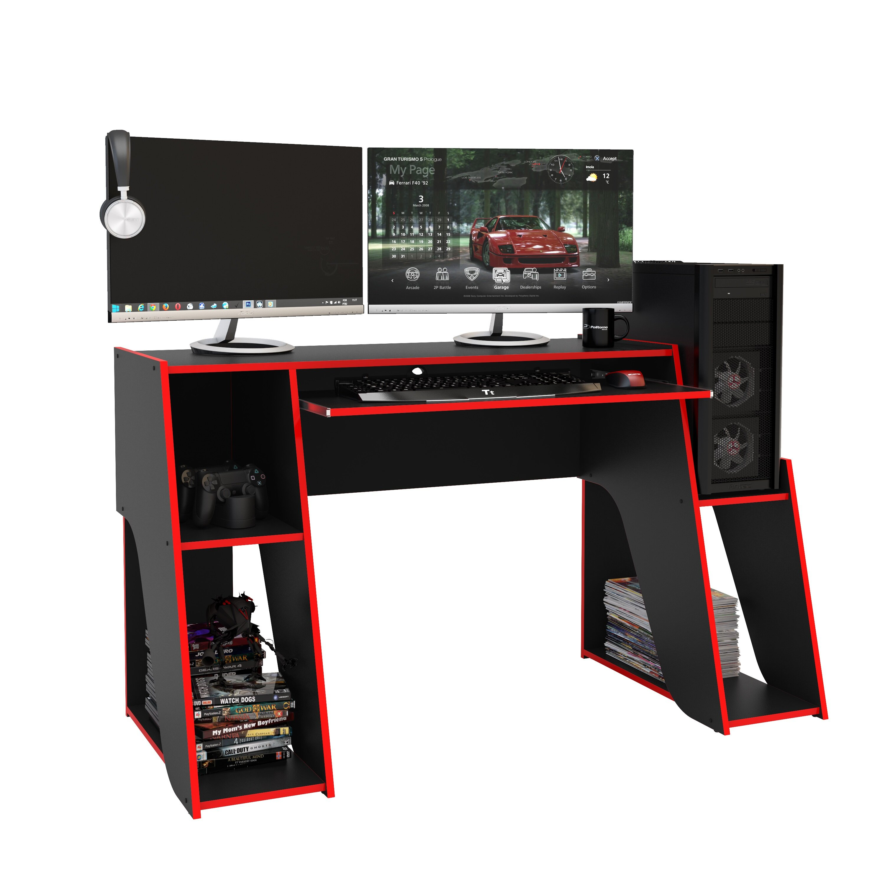 Orren Ellis Bylnice Gaming Desk Reviews