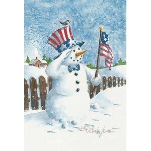 Uncle Snowman Garden flag