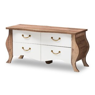 Elicia Farmhouse 4 Drawer Accent Chest by World Menagerie