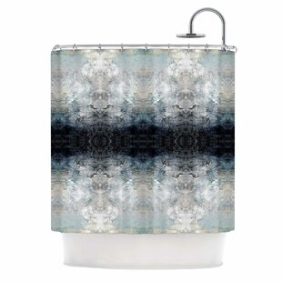 'Heavenly Abstraction L' Digital Single Shower Curtain