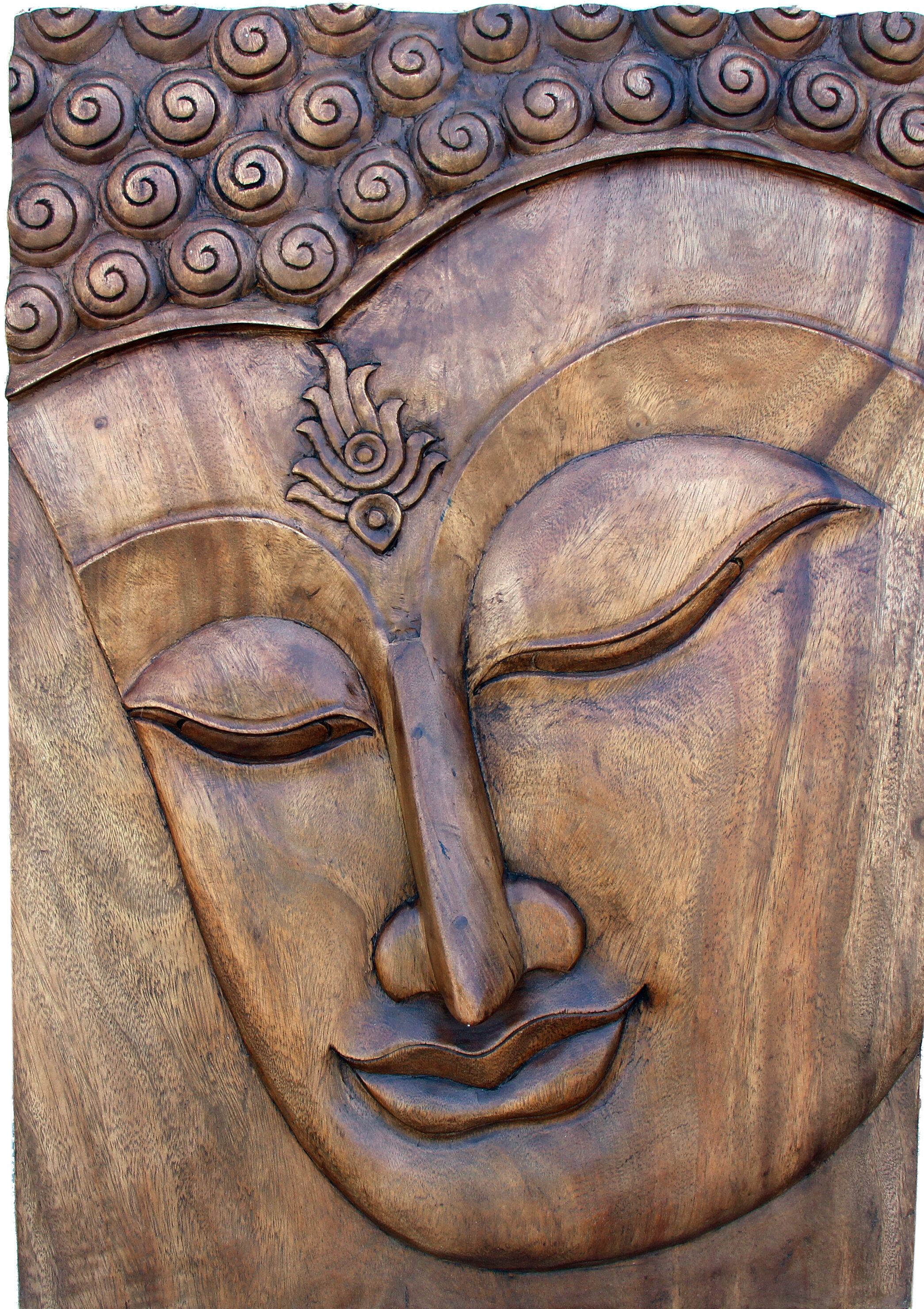 Hand Carved Buddha Wall Decor