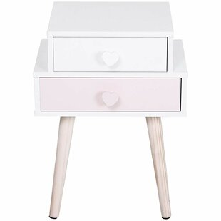 Feldman 2 Drawer Bedside Table (Set Of 2) By Harriet Bee