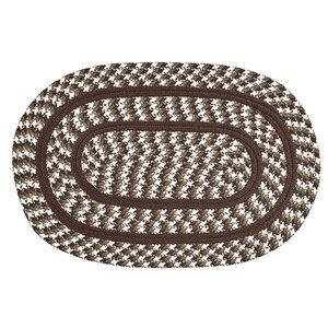 Crescent Braided Brown Indoor/Outdoor Area Rug