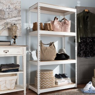 Price Check Epstein 59 H x 31.5 W 4 Shelf Shelving Unit By Rebrilliant