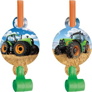 Tractor Plastic/Paper Disposable Party Favor Set