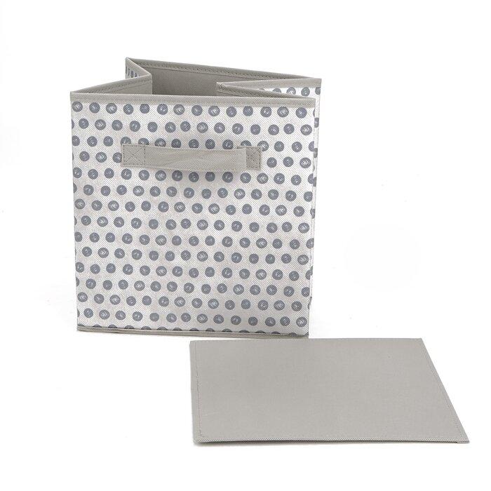 Mind Reader Storage Bin Dots Design, Foldable Storage Basket with Handles,  Decorative Storage Bins, Cube Organizer Bin, Bathroom, Bedroom, Children\'s  ...