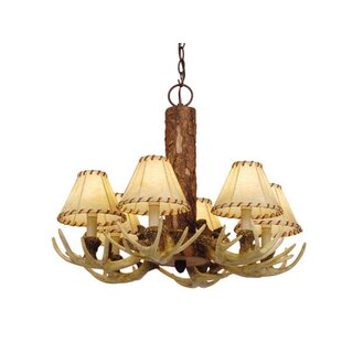 Loon Peak Portillo 6-Light Shaded Chandelier
