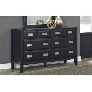Home Styles Prescott 8 Drawer Double Dresser with Mirror Image