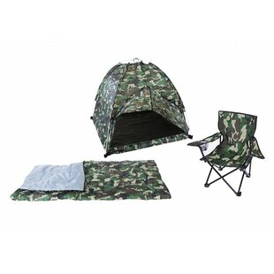 Deals Camo 3 Piece Play Tent ByPacific Play Tents