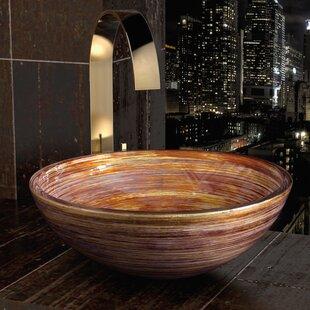 Reviews Rainbow Glass Circular Vessel Bathroom Sink ByMaestro Bath