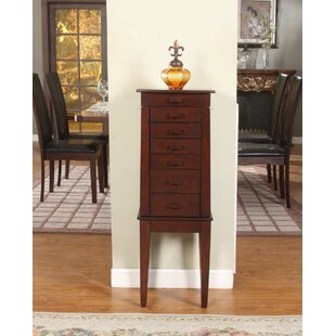 Wildon Home ® Sumba Yin Yang Jewelry Armoire with Mirror