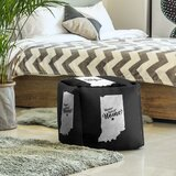 Home Sweet Indianapolis Cube Ottoman by East Urban Home