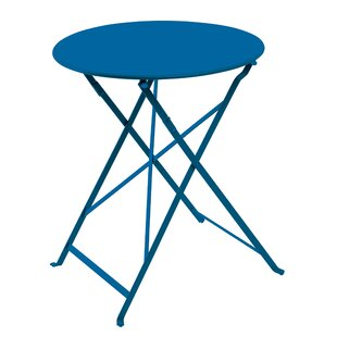 Highland Dunes Fennell Patio Round Folding Powder Coated Steel Bistro Table
