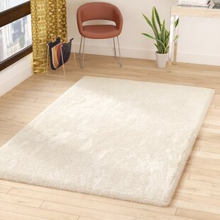 Reviews Surry Hand-Woven White Area Rug By Wade Logan