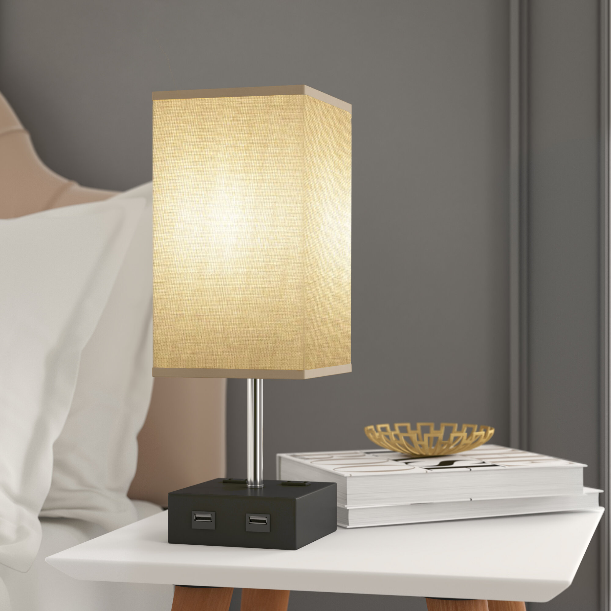 Table Lamp With Usb Port Wayfair