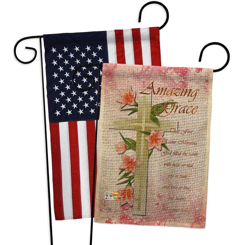 Breeze Decor Amazing Grace Burlap 2 Sided Polyester 18 5 X 13 In Garden Flag Wayfair