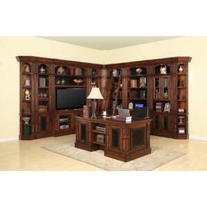 Leiva Full Library Center with Desk by World Menagerie