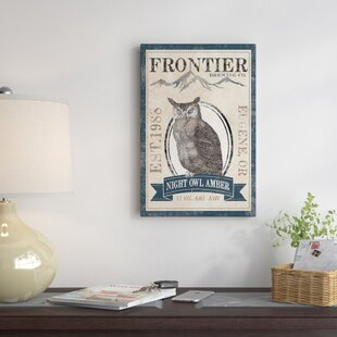 'Frontier Brewing Co. III (Night Owl Amber)' Vintage Advertisement on Canvas ByEast Urban Home