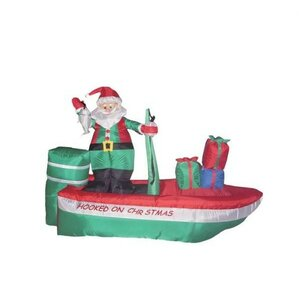 Christmas Inflatable Santa Claus Fishing Decoration