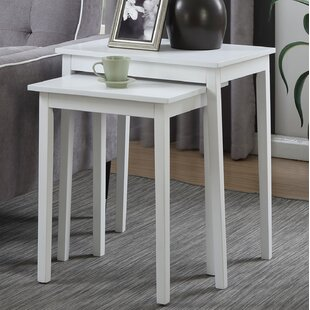 White wood nesting tables youll love wayfair white wood nesting tables watchthetrailerfo
