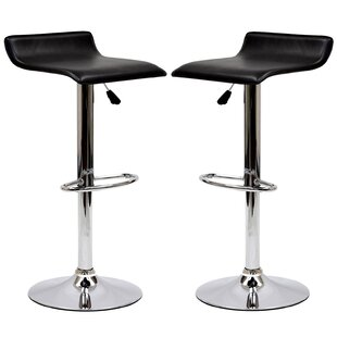 Steuben Adjustable Height Swivel Bar Stool (Set of 2)