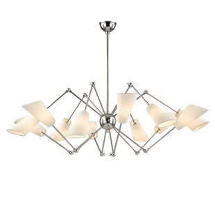 Corrigan Studio Vita 12 Light Shaded Chandelier