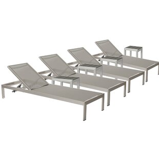 Belterra 4 Chaise Lounge Set with Table