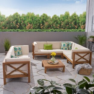 Find for Abbie 8 Piece Sectional Seating Group with Cushion Purchase Online