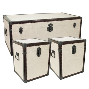 Hymera 3 Piece Lift Top Coffee Table& Trunk Set (Set of 3)