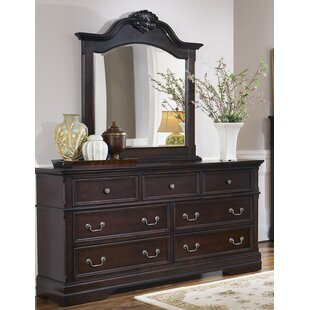 Gilmer 7 Drawer Dresser with Mirror