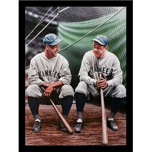 'Yankees' Print Poster by Darryl Vlasak Framed Memorabilia by Buy Art For Less