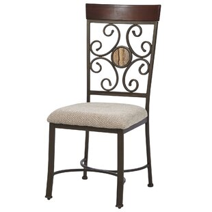 Fleur De Lis Living Stefanie Metal Dining Chair (Set of 2)