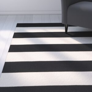 Skyler Hand-Woven Cotton Black/White Area Rug
