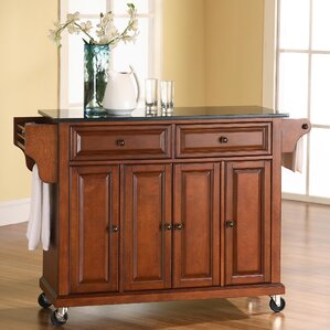 Pottstown Kitchen Island With Granite Top Great Ideas