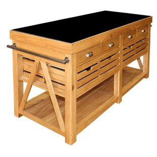 Cragmere Kitchen Island With Granite Top By Beachcrest Home
