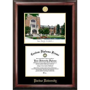 NCAA Purdue University Diploma Frame with Lithograph Picture Frame By Campus Images