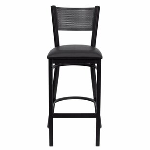 Dryden 30.25 Bar Stool with Cushion Red Barrel Studio