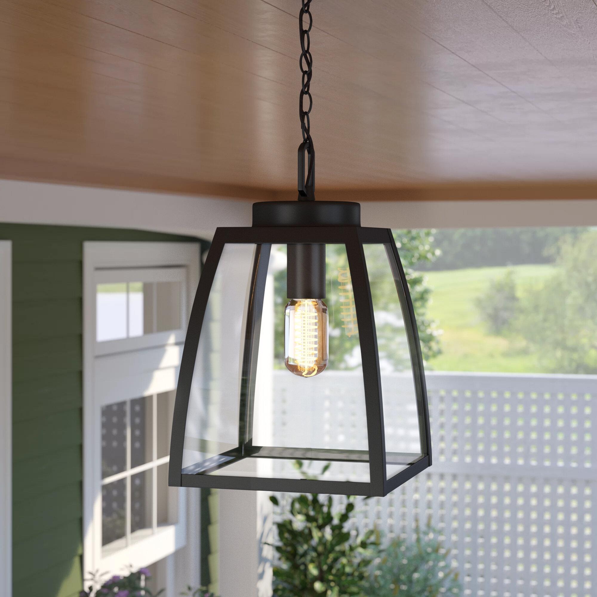Birch Lane Kunkel Oil Burnished Bronze 1 Bulb 13 H Outdoor Hanging Lantern Reviews Wayfair