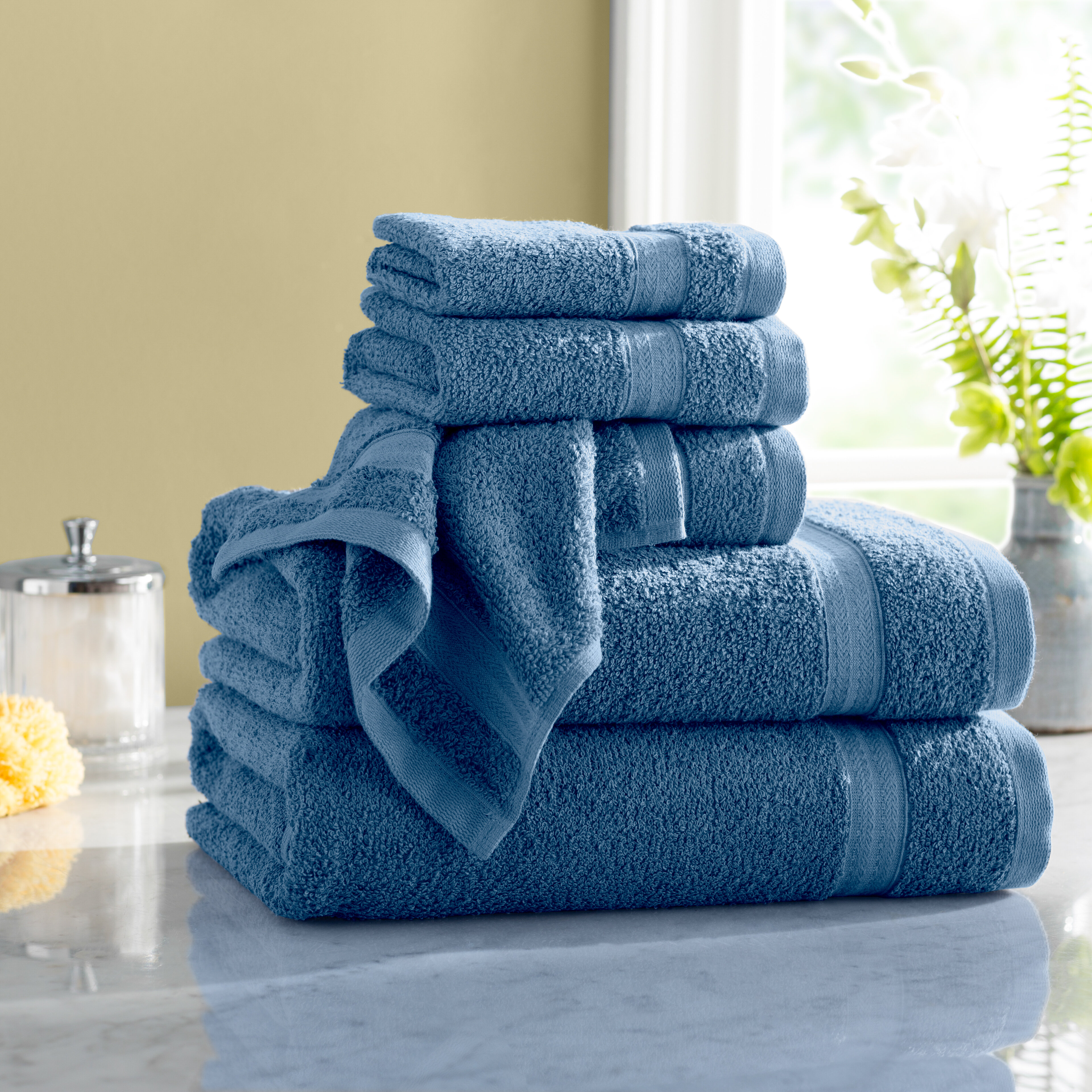 Wayfair Basics Quick Dry 6 Piece 100 Cotton Towel Set Reviews