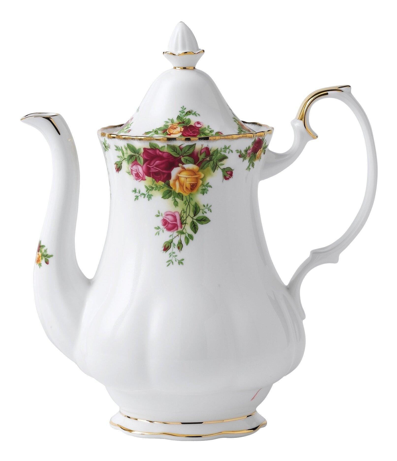 Royal Albert Old Country Roses 5 25 Cup Coffee Pot Server Reviews Wayfair