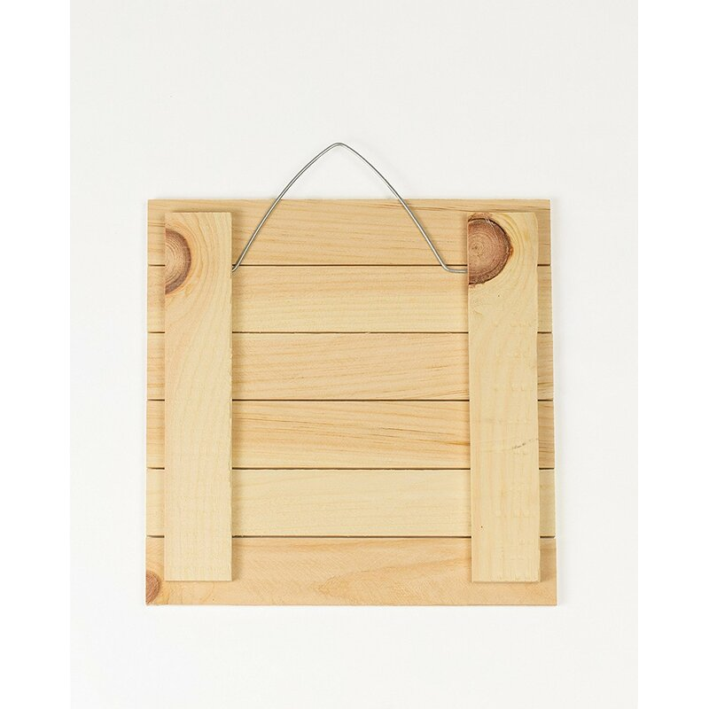 Red Barrel Studio 3D Accent Piece Eat Brown Slatted Pallet Wood Sign ...