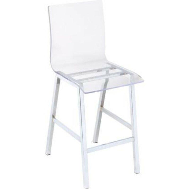 White Cane Outdoor Furniture, Orren Ellis Simoneaux Metal Counter Height Dining Chair Wayfair