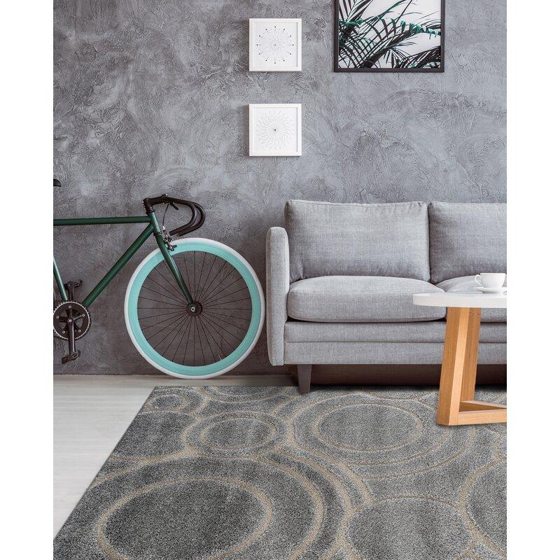 Ebern Designs Dostie Gray Area Rug Wayfair